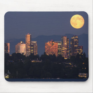 Skyline Of Bellevue From Lake Washington At Dusk Mouse Pad