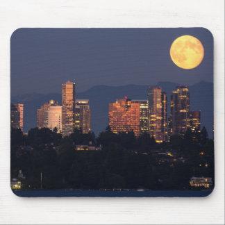 Skyline Of Bellevue From Lake Washington At Dusk Mousepad