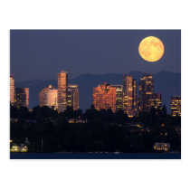 Skyline Of Bellevue From Lake Washington At Dusk Postcard