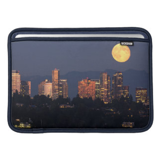 Skyline Of Bellevue From Lake Washington At Dusk Sleeve For MacBook Air