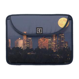 Skyline Of Bellevue From Lake Washington At Dusk Sleeve For MacBooks
