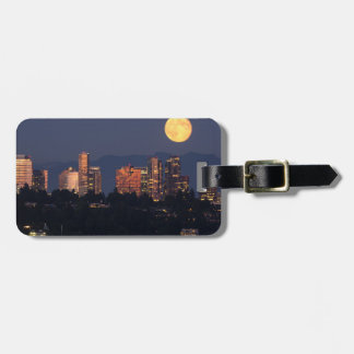 Skyline Of Bellevue From Lake Washington At Dusk Tag For Luggage