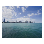 Skyline of Chicago from Lake Michigan, Illinois, Poster
