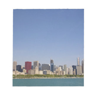Skyline of Chicago, Illinois, USA. Notepad