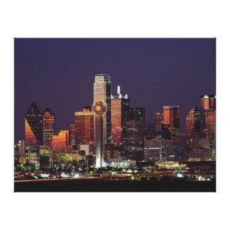 Skyline of Dallas, Texas Canvas Print