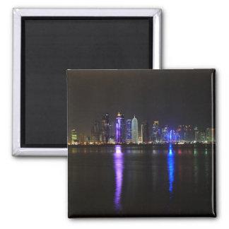 Skyline of Doha, Qatar at night magnet