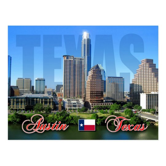 Skyline of Downtown Austin, Texas Postcard