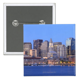 Skyline of downtown Boston from inner Boston 2 Inch Square Button