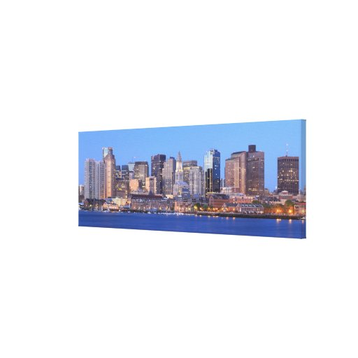 Skyline of downtown Boston from inner Boston Gallery Wrapped Canvas