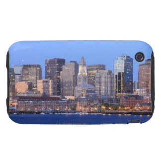 Skyline of downtown Boston from inner Boston Tough iPhone 3 Cover