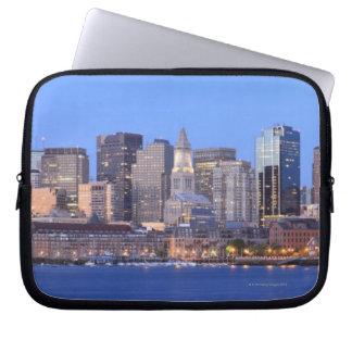 Skyline of downtown Boston from inner Boston Laptop Sleeve