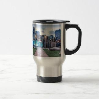 Skyline of Downtown Charlotte N.C. Travel Mug
