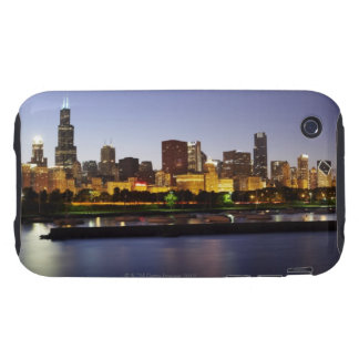 Skyline of downtown Chicago at dusk iPhone 3 Tough Cover