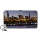 Skyline of downtown Chicago at dusk Speaker System