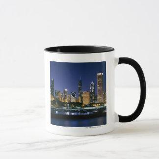 Skyline of Downtown Chicago at night Mug