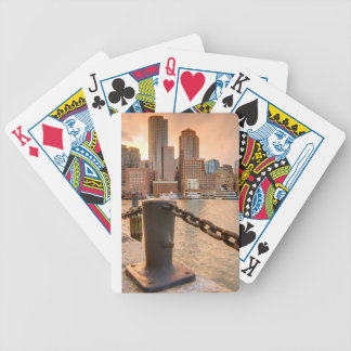 Skyline of Financial District of Boston Bicycle Playing Cards