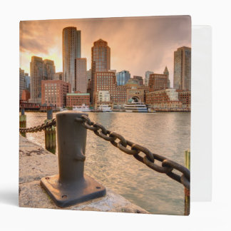 Skyline of Financial District of Boston Binder