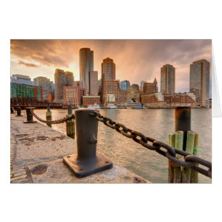 Skyline of Financial District of Boston Card