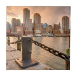 Skyline of Financial District of Boston Ceramic Tile