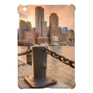 Skyline of Financial District of Boston Cover For The iPad Mini