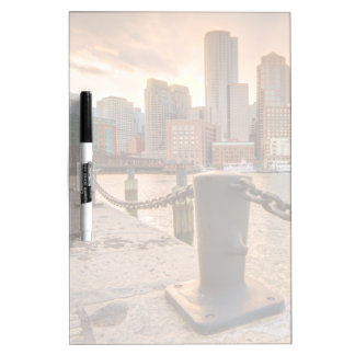 Skyline of Financial District of Boston Dry-Erase Board