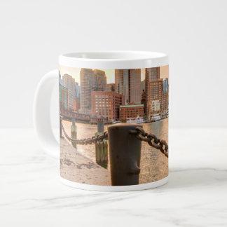 Skyline of Financial District of Boston Giant Coffee Mug