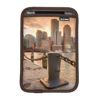 Skyline of Financial District of Boston iPad Mini Sleeve