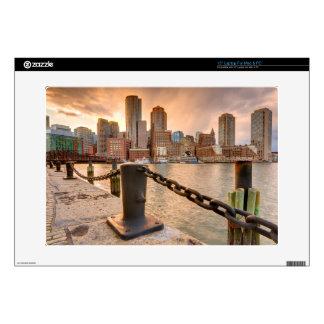 Skyline of Financial District of Boston Laptop Skins