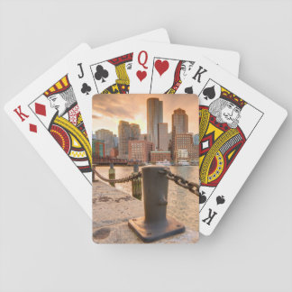 Skyline of Financial District of Boston Playing Cards