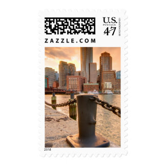 Skyline of Financial District of Boston Postage