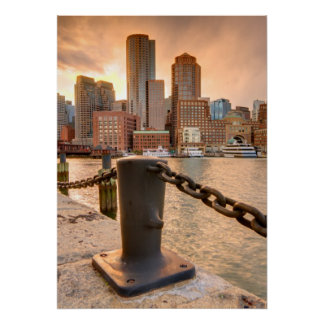 Skyline of Financial District of Boston Posters