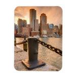 Skyline of Financial District of Boston Rectangular Photo Magnet