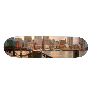 Skyline of Financial District of Boston Skateboard