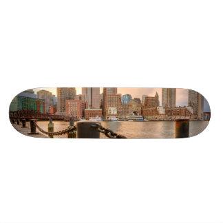 Skyline of Financial District of Boston Custom Skate Board