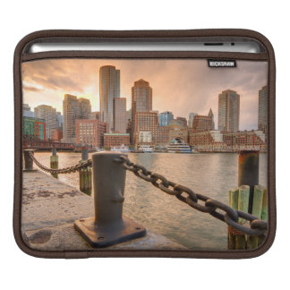 Skyline of Financial District of Boston Sleeve For iPads