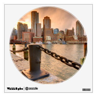 Skyline of Financial District of Boston Wall Sticker