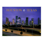 Skyline of Houston, Texas at dusk Postcard