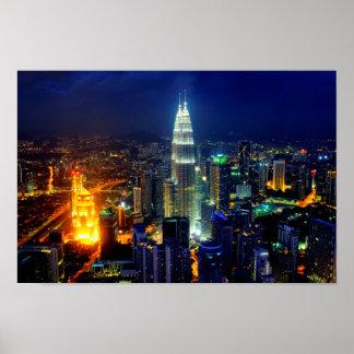 Skyline of Kuala Lumpur Poster