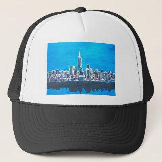 Skyline Of Manhattan New York City With Trucker Hat