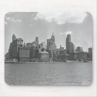Skyline of Manhattan New York USA B&W Mouse Pad
