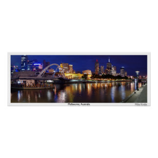 Skyline of Melbourne Panorama Posters