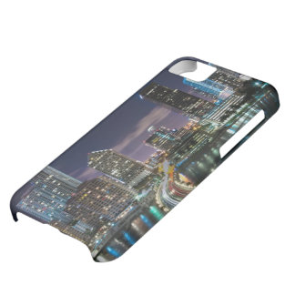 Skyline of Miami city with bridge at night Case For iPhone 5C