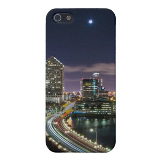 Skyline of Miami city with bridge at night Case For iPhone SE/5/5s