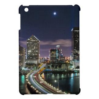 Skyline of Miami city with bridge at night iPad Mini Cover