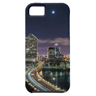 Skyline of Miami city with bridge at night iPhone SE/5/5s Case