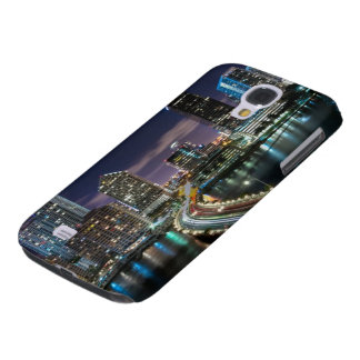 Skyline of Miami city with bridge at night Samsung Galaxy S4 Case