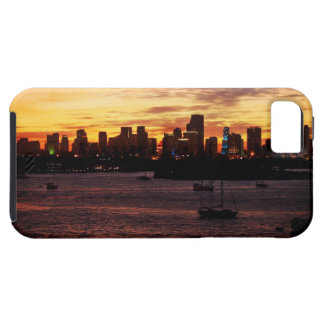 Skyline of Miami Florida at Sunset iPhone SE/5/5s Case