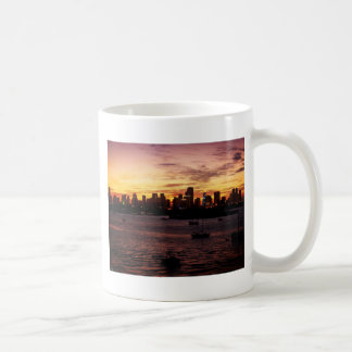 Skyline of Miami Florida at Sunset Classic White Coffee Mug