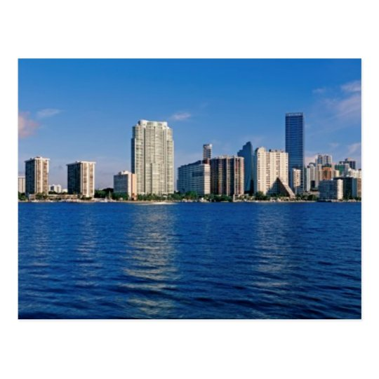 Skyline of Miami, Florida Postcard