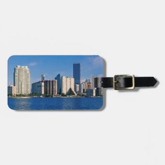 Skyline of Miami, Florida Tags For Luggage